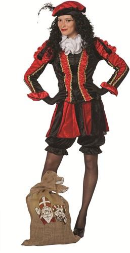 Dames Pietenpak Pepita Rood-Zwart