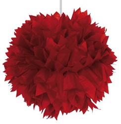 Decoratie Pompom Rood 30cm