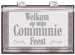Deurbord Communie Vierkant