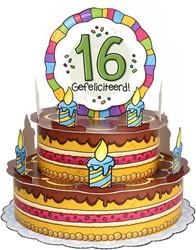 3D Taart 16 Gefeliciteerd!
