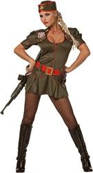 Dameskostuum Sexy Army Lady