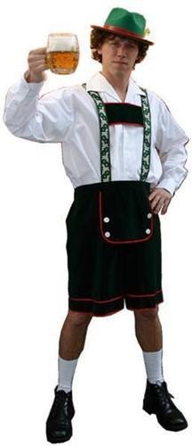 Tiroler Broek Groen Bloemen