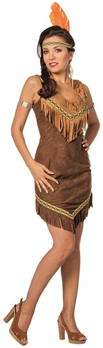 Dameskostuum Sexy Indiaanse Bruin