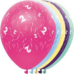 Ballonnen 2 jaar Metallic 5st