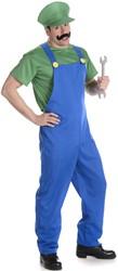Herenkostuum Groene Loodgieter Luigi