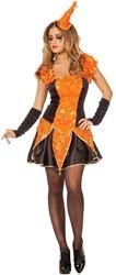 Damesjurkje Sexy Joker Zwart-Oranje