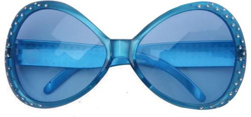 Bril Mega Diamant Blauw