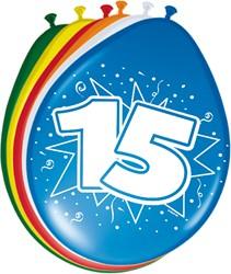 Ballonnen 15jaar 8st