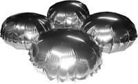 Cluster Folieballonnen Rond Metallic Zilver 10st.-3