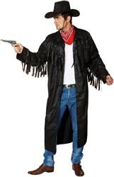 Cowboymantel Zwart
