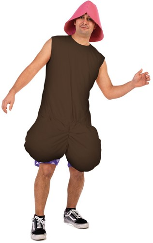 Kostuum Crazy Penis Bruin