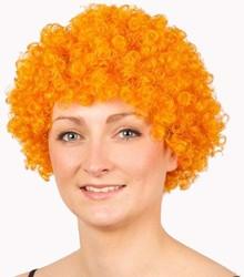 Pruik Afro Klein Oranje