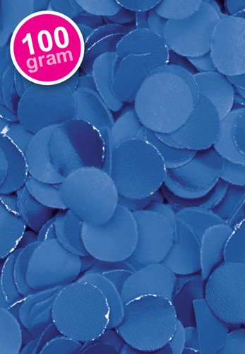Confetti 100 gr Blauw