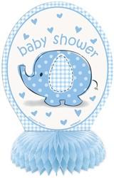 Decoratie Honeycomb Baby Shower Blauw-Jongen 4st.