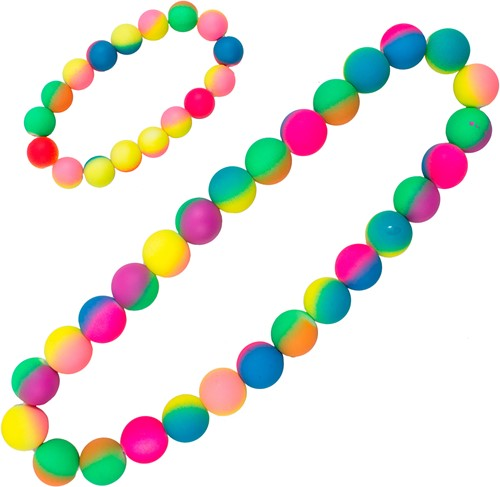 Ketting + Armband Rainbow Bubbles