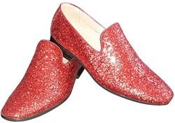 Foute Glitter Schoenen Rood voor heren