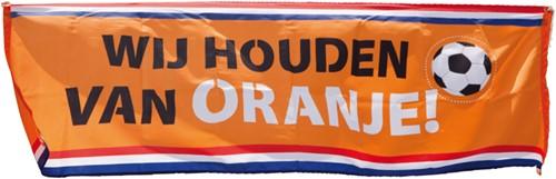 Banner Houden van Oranje 220X74CM