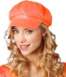 Cap Spangles Neon Oranje