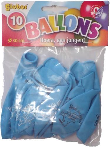Hoera Jongen ballonnen 10st