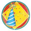 Bordjes Happy Birthday 8st 23cm