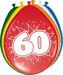 Ballonnen 60 jaar 8st