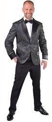 Glitter Colbert Zwart voor heren