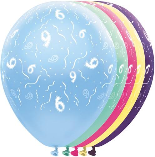 Ballonnen 9 jaar Metallic 5st