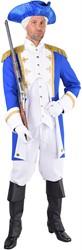 Herenkostuum Garde Officier Blauw-Wit