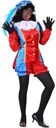 Dames Pietenpak Castillie Rood/Blauw
