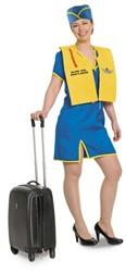 Stewardessen Kostuum Blauw