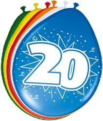 Ballonnen 20jaar 8st