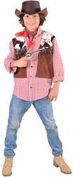Kinder Cowboy Hemd+Vest 1dlg.