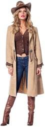 Cowboyjas Lichtbruin met Gilet voor dames
