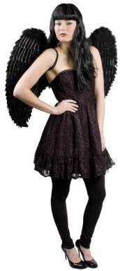 Engelen Vleugels Zwart (87x72cm)