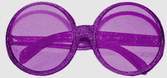 8bf00f6b7cd228 Bril Disco Glitter Paars
