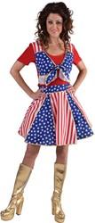 Dameskostuum Cheerleader Stars & Stripes