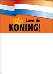 Zwaaivlag Leve de Koning 37cm