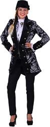 Carnavalsjas Royale Zwart-Zilver voor dames