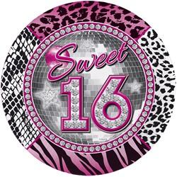 Bordjes Sweet 16 Tijger-Diamanten 8st.