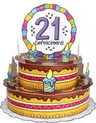 3D Taart 21 Gefeliciteerd!