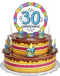 3D Taart 30 Gefeliciteerd!