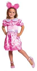Meisjesjurk Roze met witte stippen