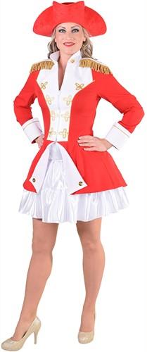 Garde Jas Rood-Wit voor dames