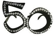 Bril 50 jaar Diamant Zwart