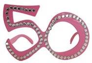 Bril 50 jaar Diamant Roze