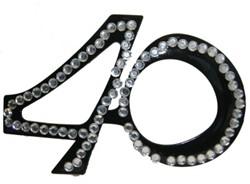 Bril 40 jaar Diamant Zwart