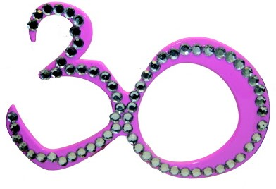 Bril 30 jaar Diamant Roze