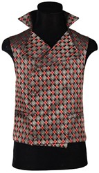 Vest Geruit Zwart-Rood voor heren