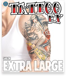 Body Tattoo Sailor (extra groot)