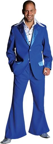 Seventies Kostuum Heer Blauw